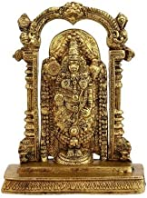 "K2F 45800 Brass Religious Hindu God Tirupati Balaji Statue Idol Figurine 9"""