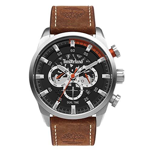 Timberland Herren Analog Quarz Uhr mit Leder Armband TDWGF2100602
