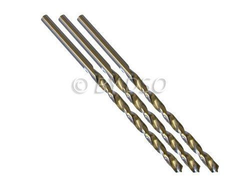 Professional 3 Piece 6mm HSS 4241 Long Straight Shank Twist Drill Bits DR052