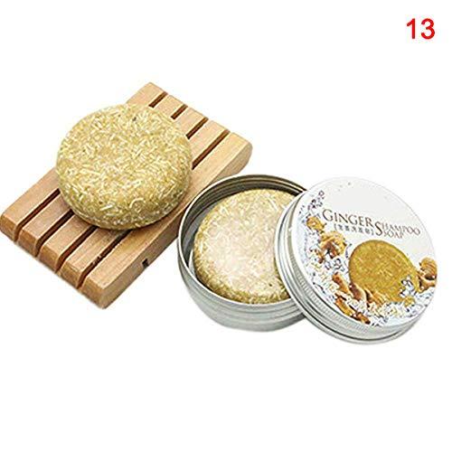 Alftek geurshampoo-staafje zeephaar, dat handgemaakte kruidenluxe badkameraccessoires voedt gember