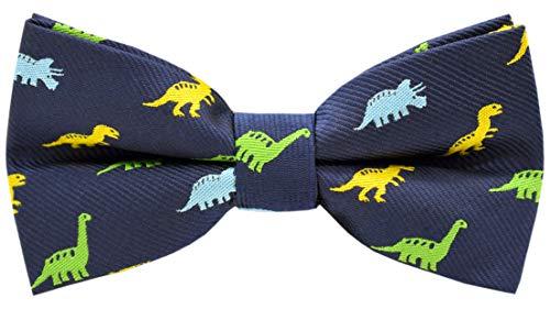 Carahere Boys Handmade Adjustable Pre-Tied Pattern Bow Ties For Kids Toddler Bow Ties (Dinosaur pattern)
