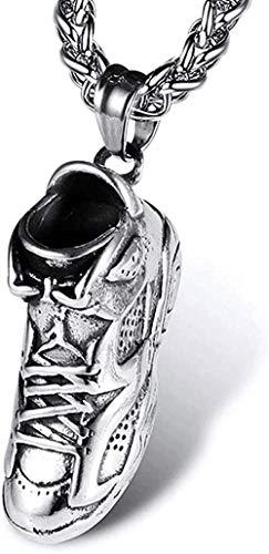 LKLFC Collar Colgante Collar de Cadena Mujer Hombre Collar Collar Hombre Collares Zapatillas Hip Hop Collar de Marea Colgante de Acero de Titanio Joyería de Acero Inoxidable Regalo
