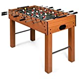 Goplus 48' Foosball Table, Easy-Assemble Soccer Game Table w/Cup...