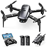Sansisco D15 Mini Drone for Kids and Beginners with 1080P FPV Camera Remote Control, Foldable Drone with Headless Mode, Altitude Hold, Waypoints, Gravity Control, Gesture Control and 360° 3D Flip