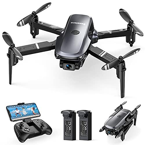 Sansisco Mini Drone con Telecamera 1080P, D15 Drone Pieghevole FPV, RC Droni Quadricottero con 20...