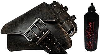 2004–2016larosa Harley Sportster Nightster rústico piel Negro Izquierda Saddlebag + Botella de combustible