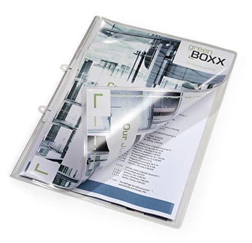 Durable 251219 Sichthefter glasklar A4 (aus Weichfolie, für A4, 223 x 313 mm) 25er Packung transparent