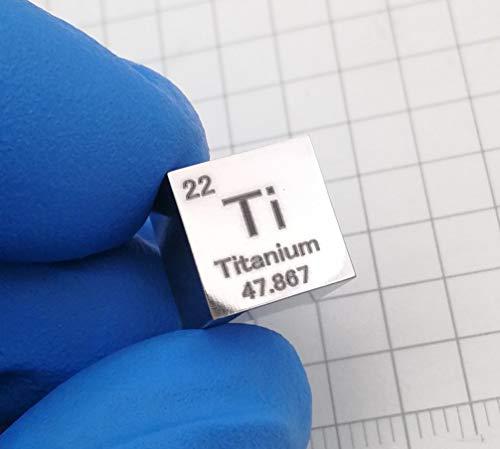 10 mm Cubo Metal titanio 99,5% Alta Pureza Cubo Titanio Ti M
