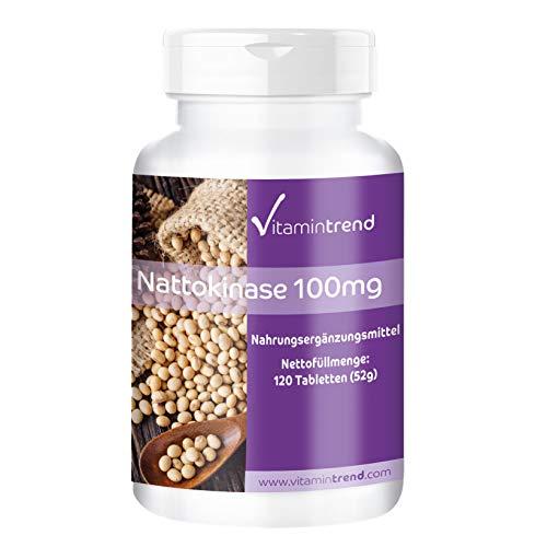 Nattokinase 100mg - 2000 FU pro Tablette - 120 Tabletten - Vegan - Hochdosiert - Hergestellt in Deutschland