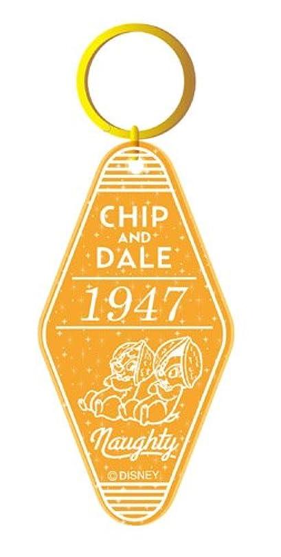 期待してクラックポット過激派ディズニー ホテルルームキーリング チップ&デール ラメオレンジ