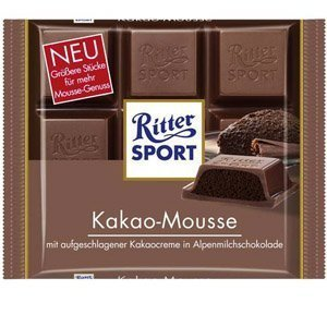 Ritter Sport Kakao-Mousse 5 x 100g. Tafel Schokolade by Yulo Inc.
