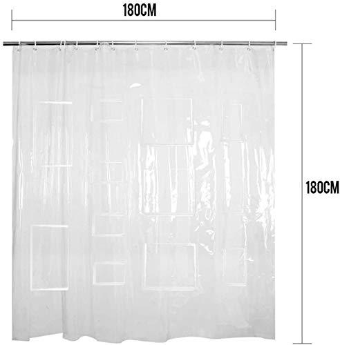 Gordijn Douchegordijn Waterproof Antibacteriële 70inch White mildewproof Stof douche douchegordijn Liner for Badkamer (Kleur: Clear, Afmetingen: 70 * 70inch) (Color : Clear, Size : 70 * 70inch)