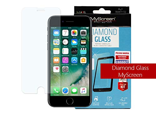 etuo Handyhülle für Apple iPhone 8 Panzerglas 9H Glas Schutz Display Panzer Schutzglas MyScreen Protector Diamond Glass