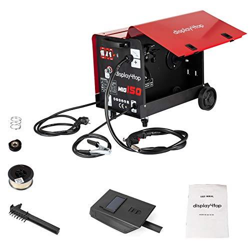 Display4top Professional Mig 150 Soldador sin gas 220 V Sin gas con máscara y soldadura...