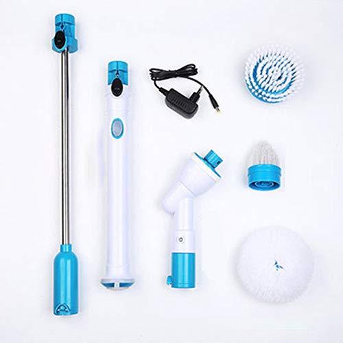 VLUNT Fregadora giratoria eléctrica, fregadora de Azulejos y bañera inalámbrica 360, Superficie...