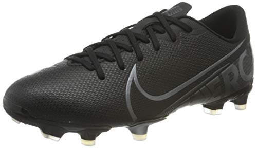 Nike Vapor 13 Academy Fg/Mg Fußballschuhe, Schwarz (Black/MTLC Cool Grey-Chrome 001), 35.5 EU