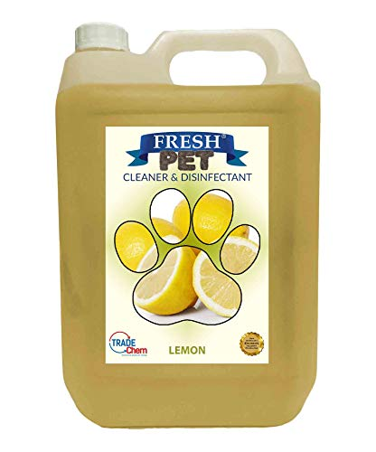 Trade Chemicals Fresh Pet Kennel/Cattery Cleaner & Disinfectant - Kills 99.99% Bacteria - Eliminates Odour (Lemon Fresh) 1