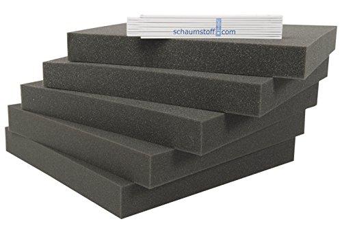 Schaumstoff Platten Set 5 stk je 40x40x4cm Polsterauflagen