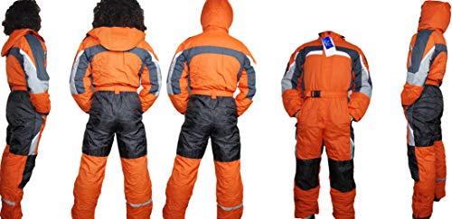 Moderei Auswahl an Schneeanzug | Schneeoverall Skianzug | Skioverall Snowboard Unisex | Jungen | Mädchen | Herren | Damen Schneeanzug (Orange 146)