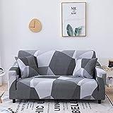 MKQB Funda de sofá elástica elástica Estampada, Funda de sofá Antideslizante para Sala de Estar, Funda de sofá de Muebles modulares de Esquina en Forma de L NO.8 M (145-185cm