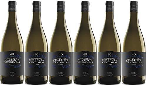 Cuatro Rayas Vino Blanco D.o Rueda Cuarenta Vendimias Cuvée D.O Rueda - 6 Botellas de 750 ml (Total 4,5 L)