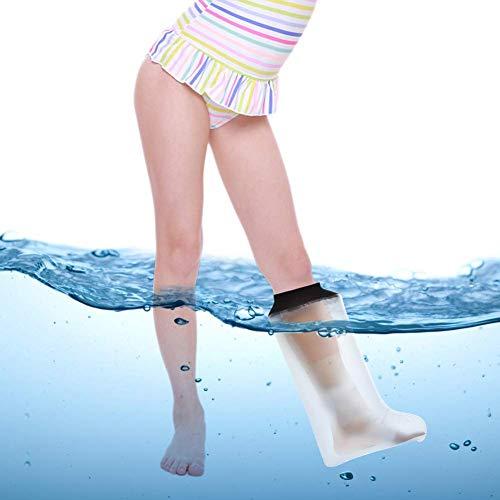 Agente protector de yeso impermeable para piernas para niños, adecuado para piernas lesionadas o postoperatorias para niños, mejor sellado y más impermeabilidad