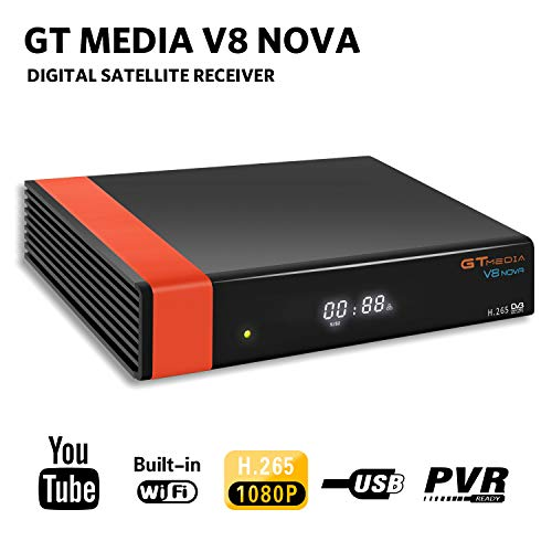 GT Media V8 Nova DVB-S2 Decodificador Satélite Receptor de TV Digital con Wi-Fi...