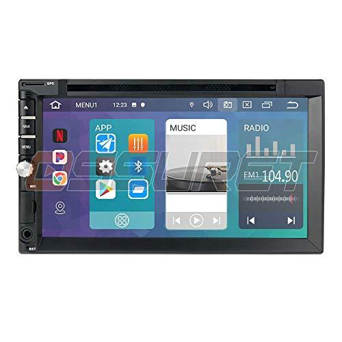 IW.HLMF Android 10 Radio estéreo Universal para automóvil Navegación GPS con Pantalla táctil de 7 Pulgadas Soporte Espejo-Link Control del Volante WiFi 4G DVR OBD2 Dab +