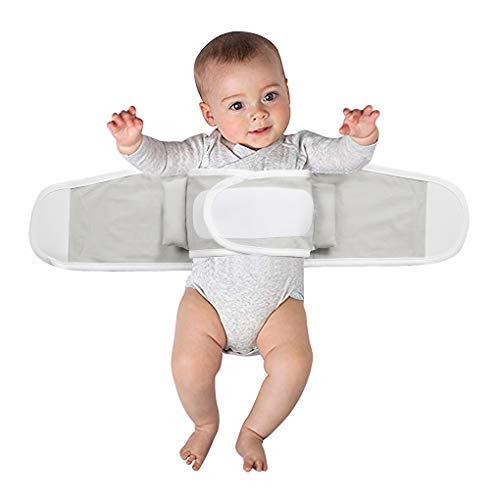 IPENNY Baby Swaddle Pucksack Schlafsack Verstellbar Elastisch Baumwolle Klettverschluss Wickeldecke Pucktuch Winter Dicker Warme Pucktuch ab 1 Jahre