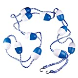 LOVIVER 500cm Safety Pool Rope And Dividing Float Kit For Swimming Pool Blue White