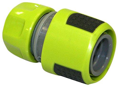 Xclou Aquastop für Gartenschlauch-Anschluss 13 mm - Wasserstop-Adapter für Gerätewechsel, Ventile und Verbindungen, Grün, 6.3 x 0,13 x 3.9 cm