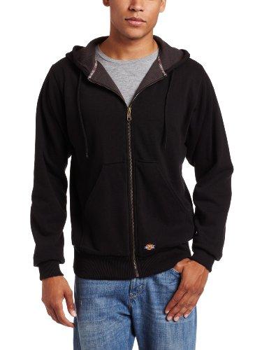 Dickies Men's Thermal Lined Fleece Jacket, Black, X-Large