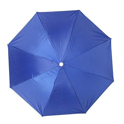 Wifehelper Paraguas Anti-UV montado en la Cabeza, sombrilla con protección Solar, sombrilla a Prueba de Lluvia, 65cm(#1)