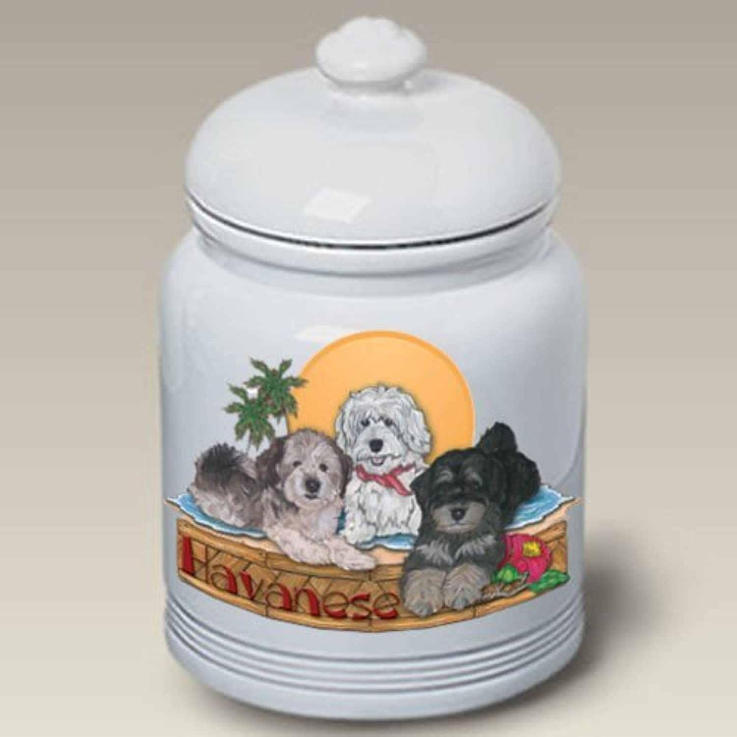 Havaneses  Pipsqueak Treat Jar by Bob Martin