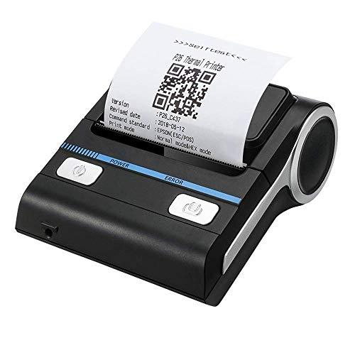 WSMLA Imprimante d'étiquettes Portable Petite imprimante Thermique 80mm Mini Petite avec Impression Haute Vitesse Compatible