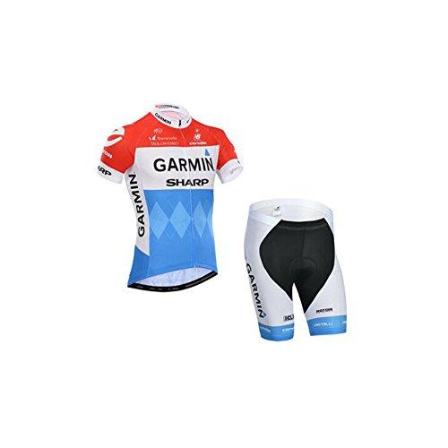 Strgao 2016 Herren Pro Rennen Team Garmin MTB Radbekleidung Radtrikot Kurzarm und Radhosen Anzug Cycling Jersey Shorts suit