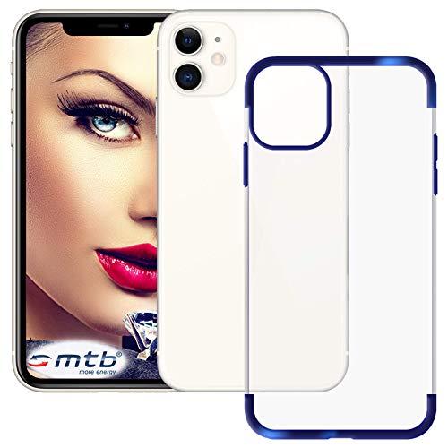 mtb more energy Custodia Elegance per Apple iPhone 11 (6.1'') - Blu - Flessibile - Frame Cornice TPU Silicone Case Cover