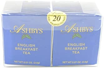 Ashbys English Breakfast Tea Bags, 20 Count Box