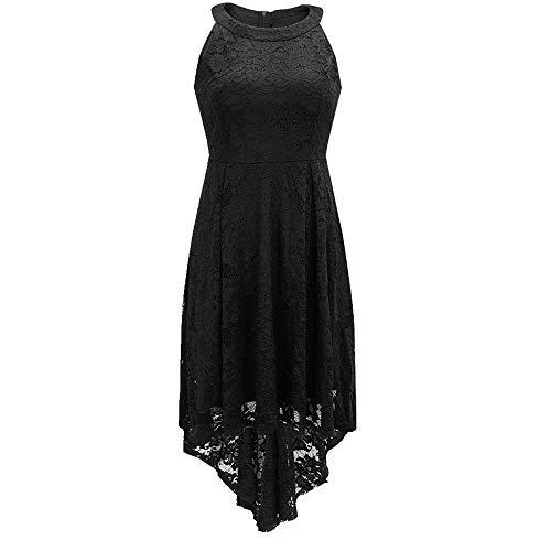 N\P Vestido de noche sexy de encaje de longitud media falda de cola de milano