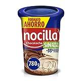 Nocilla Doble Crema de Cacao y Leche con Avellanas, Sin Aceite de Palma, 780g