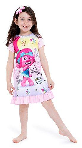 Trolls Girls' Toddler Poppy Nightgown, Hug Time Pink, 2T