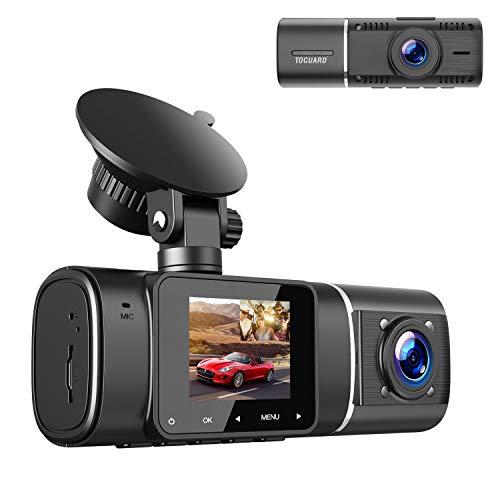 """TOGUARD Dual Dashcam Full HD 1080P Front- und 720P IR-Nachtsicht-Innen Auto Dash Camera, 1.5"""" 310° Autokamera Weitwinkel mit G-Sensor, Parküberwachung, Loop-Aufnahm for Uber Lyft Taxis"""