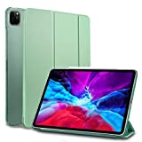 MS factory iPad Pro 12.9 2020 ケース カバー iPadPro 12.9インチ 第4世代 Apple Pencil ワイヤレス充電 対応 アイパッド プロ スマートカバー オートスリープ 全6色 ティーグリーン 緑 IPDPRO4-SMART-TGR