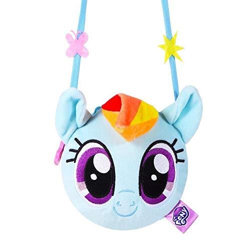 Guiping My little pony New pony bao li children's purse plush backpack cartoon cute doll cross body bag girl toys· (Color : Blue)