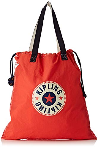 Kipling - New Hiphurray L Fold, Bolsos totes Mujer, Rojo (Active Red Bl)
