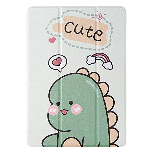 JIan Ying Case for Huawei MediaPad M5 lite 10.1' Tri-fold Lightweight Protective Cover Green dinosaur