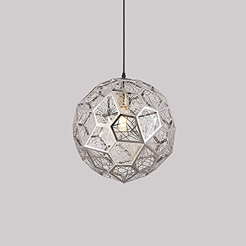 Xungzl Iluminación Colgante de Acero Inoxidable Moderno y Simple, araña de Metal de Forma de poliedro geométrica, Forma de Globo Mini lámpara Colgante, decoración Creativa Droplight