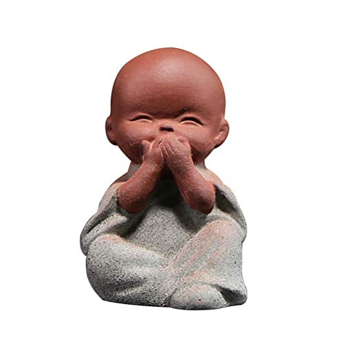 VOSAREA Linda pequeña Estatua Buda estatuilla Monje