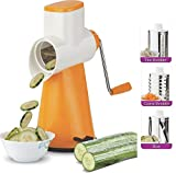 VINTEZZA Grater/Shredder/Slicer /4 in 1 /, 4 Drum,Carrot Grater. Shedder, Potato Slicer (Orange)