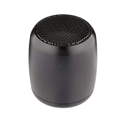 LIRONG Mini Metal Wireless Lautsprecher Outdoor Portable Subwoofer Creative Cannon TWS Sound Capacity 300mAh,Black